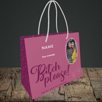 Picture of Bitch Please!, Wedding Design, Small Landscape Gift Bag