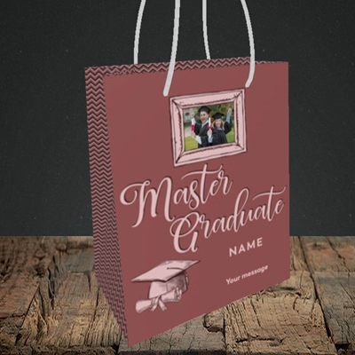 Picture of Master Graduate, Graduation Design, Small Portrait Gift Bag