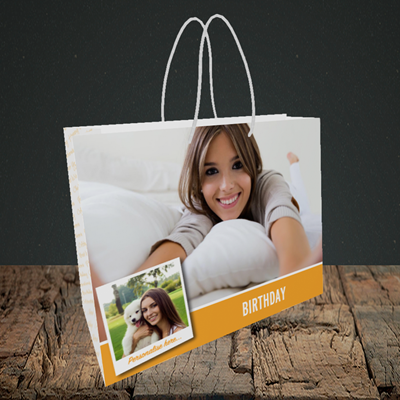 Picture of Photo, Birthday Design, Small Landscape Gift Bag