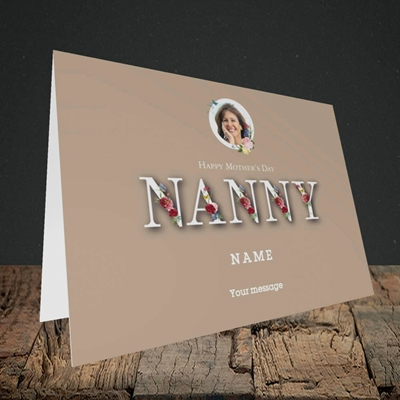 Picture of Nanny Floral Letters, Mother's Day Design, Landscape Greetings Card