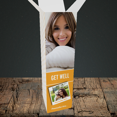 Picture of Photo, Get Well Design, Upright Bottle Box