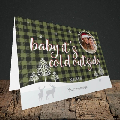 Picture of Cold Outside, Christmas Design, Landscape Greetings Card