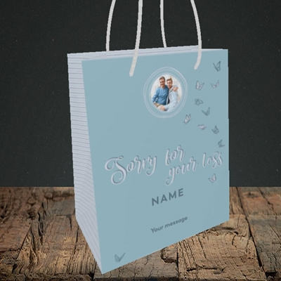 Picture of Butterflies, Thinking of You Design, Small Portrait Gift Bag