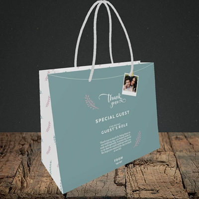 Picture of Peg & Polaroid Teal SG, Wedding Design, Small Landscape Gift Bag