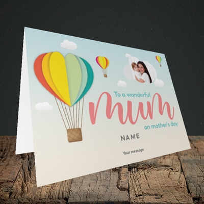 Picture of Hot Air Balloon, Mother's Day Design, Landscape Greetings Card