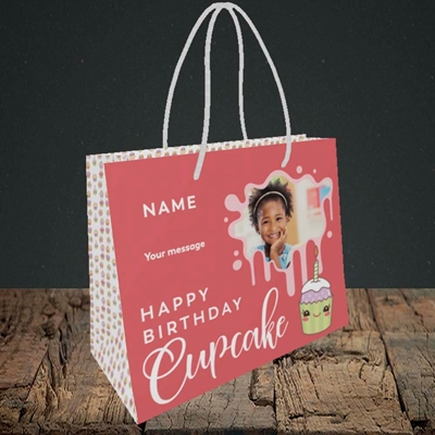 Picture of Cupcake, Birthday Design, Small Landscape Gift Bag