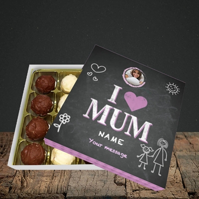 Picture of I Love Mum (Chalk Board), Choc 16