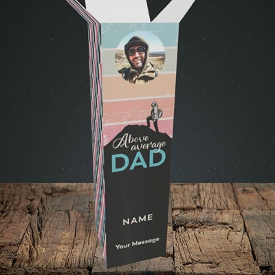 Picture of Above Average Dad, Father's Day Design, Upright Bottle Box