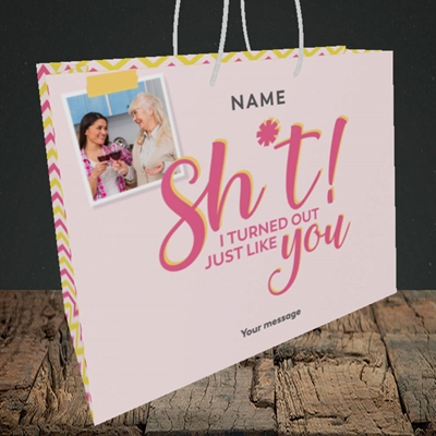 Picture of Just Like You!, Mother's Day Design, Medium Landscape Gift Bag