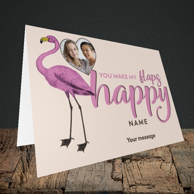 Picture of Happy Flaps, Valentine's Design, Landscape Greetings Card