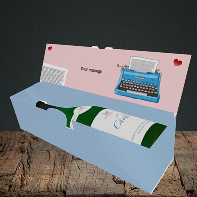 Picture of Just My Type(Without Photo), Valentine's Design, Lay-down Bottle Box