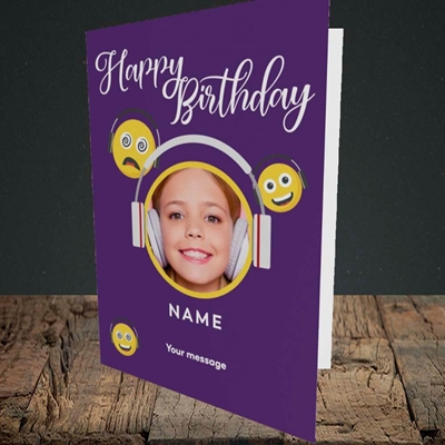 Picture of Smileys, Birthday Design, Portrait Greetings Card