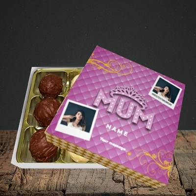Picture of Bestest Mum, Mother's Day Design, Choc 9