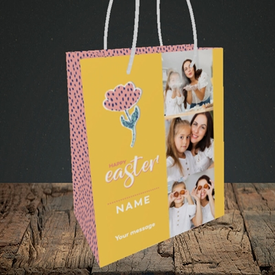 Picture of Easter Flower, Easter Design, Small Portrait Gift Bag
