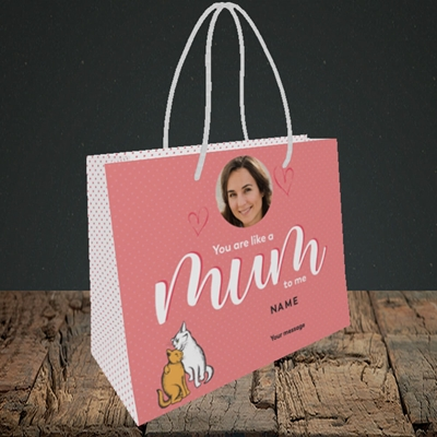 Picture of Like A Mum To Me, Mother's Day Design, Small Landscape Gift Bag