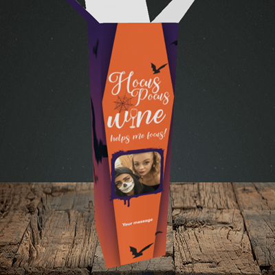 Picture of Hocus, Halloween Design, Upright Bottle Box