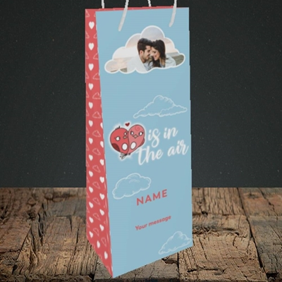 Picture of Love Is In The Air, Valentine's Design, Bottle Bag