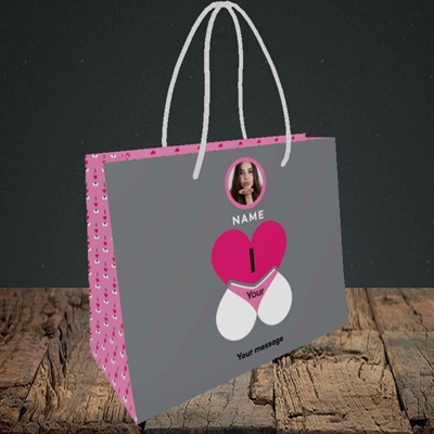Picture of I Love Your Bum, Valentine's Design, Small Landscape Gift Bag