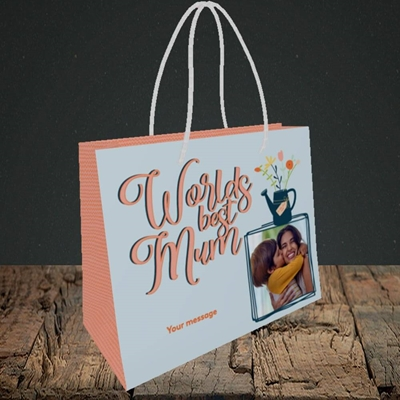 Picture of Worlds Best Mum, Mother's Day Design, Small Landscape Gift Bag