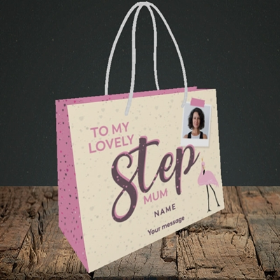 Picture of Lovely Step Mum, Mother's Day Design, Small Landscape Gift Bag