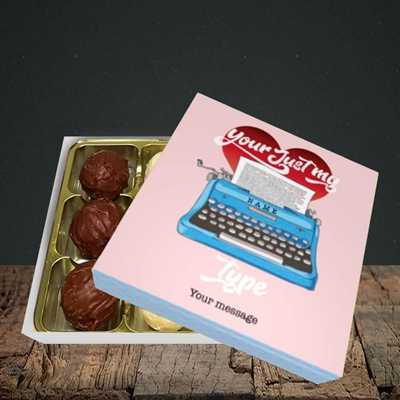 Picture of Just My Type(Without Photo), Valentine's Design, Choc 9