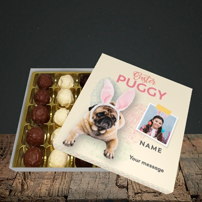 Picture of Easter Puggy, Easter Design, Choc 25