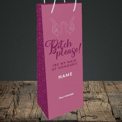 Picture of Bitch Please!(Without Photo), Wedding Design, Bottle Bag
