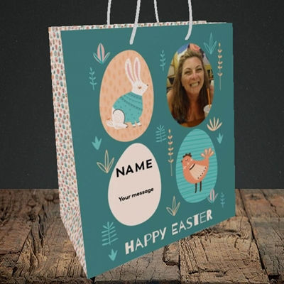 Picture of Easter Egg Farm, Easter Design, Medium Portrait Gift Bag