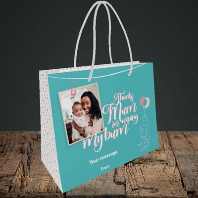 Picture of Wiping My Bum, Mother's Day Design, Small Landscape Gift Bag