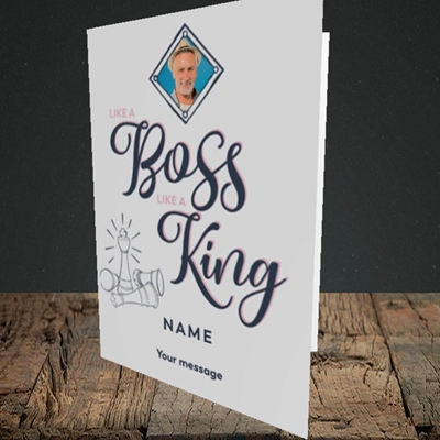 Picture of Like A Boss, Celebration Design, Portrait Greetings Card