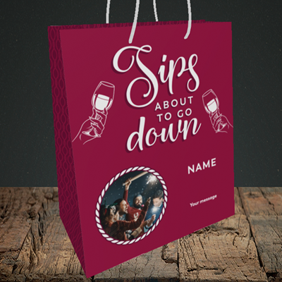 Picture of About To Go Down, New Year Design, Medium Portrait Gift Bag