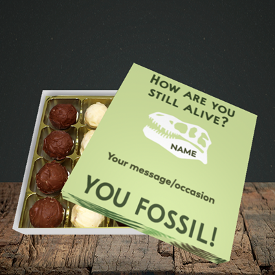 Picture of Fossil, (Without Photo) Birthday Design, Choc 16