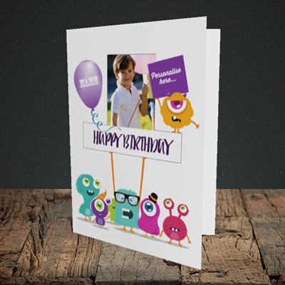 Picture of Monster, Birthday Design, Portrait Greetings Card