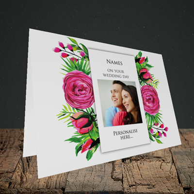 Picture of Flowers, Wedding Design, Landscape Greetings Card