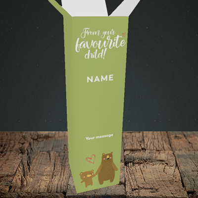 Picture of Favourite Child, (Without Photo) Mother's Day Design, Upright Bottle Box