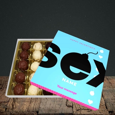 Picture of Sex Bomb - Blue(Without Photo), Valentine Design, Choc 25