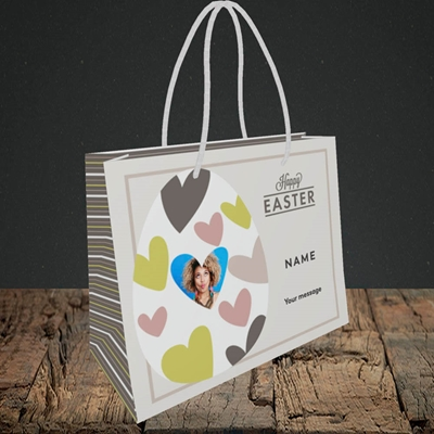 Picture of Egg Of Hearts, Easter Design, Small Landscape Gift Bag
