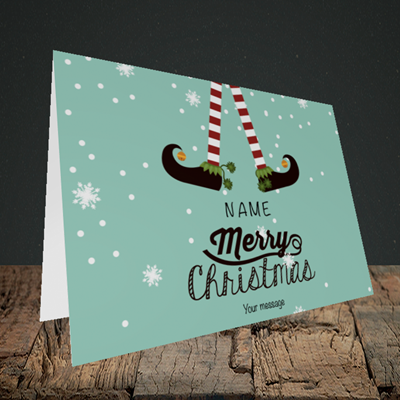 Picture of Elf, (Without Photo) Christmas Design, Landscape Greetings Card