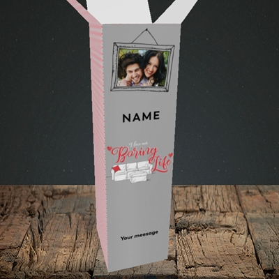 Picture of Boring Life, Valentine's Design, Upright Bottle Box