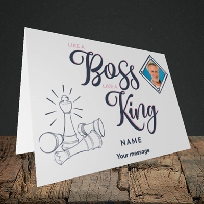Picture of Like A Boss, Celebration Design, Landscape Greetings Card