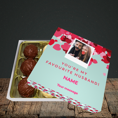 Picture of Favourite Husband, Valentine Design, Choc 9