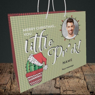 Picture of Christmas Pr*ck, Christmas Design, Medium Landscape Gift Bag