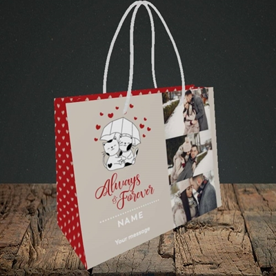 Picture of Always & Forever, Valentine's Design, Small Landscape Gift Bag