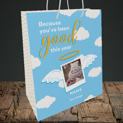 Picture of Good This Year, Christmas Design, Medium Portrait Gift Bag