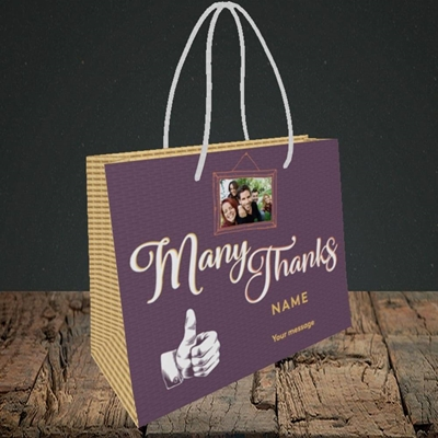 Picture of Many Thanks, Thank You Design, Small Landscape Gift Bag