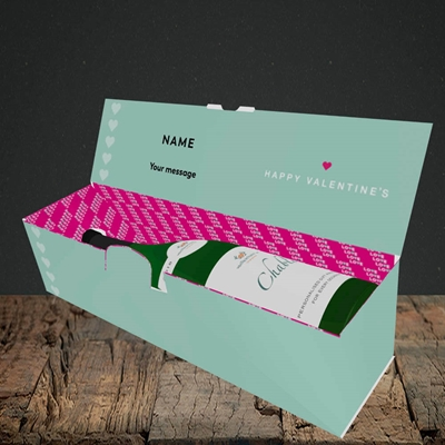 Picture of Never Let Our Love Be Apart (Without Photo), Valentine's Design, Lay-down Bottle Box