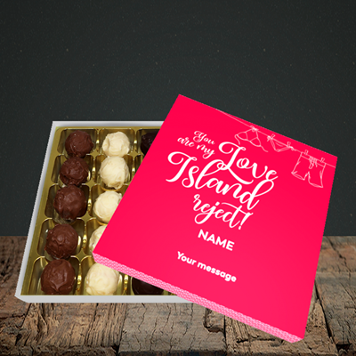 Picture of Love Island Reject, (Without Photo) Valentine Design, Choc 25