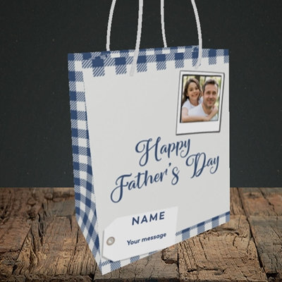 Picture of 2. Polaroid, Father's Day Design, Small Portrait Gift Bag