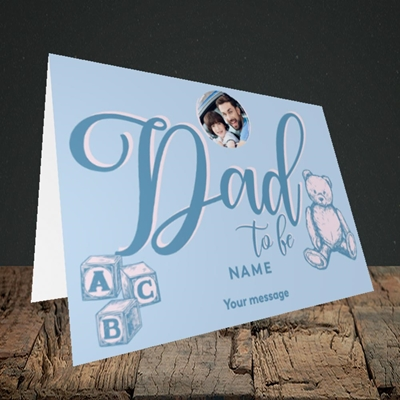 Picture of Dad To Be, Pregnancy Design, Landscape Greetings Card