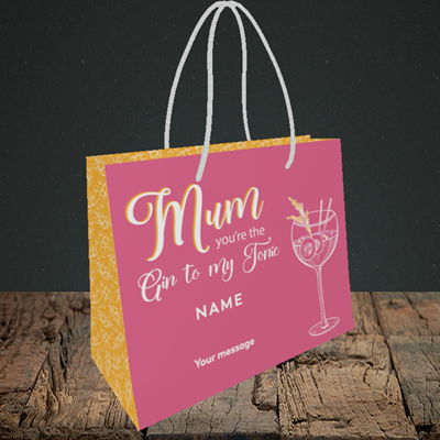 Picture of Gin To My Tonic, (Without Photo) Mother's Day Design, Small Landscape Gift Bag